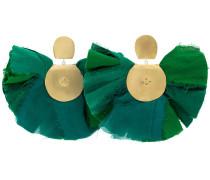 silk fan earrings