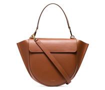 Brown Hortensia Leather Shoulder Bag