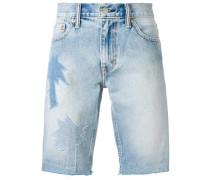 palm applique shorts