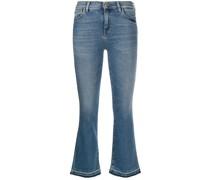 Cropped-Jeans mit aufgerautem Saum