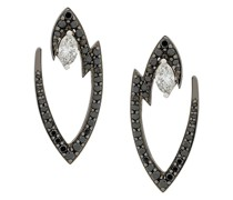 18kt white gold Lady Stardust marquise diamond earrings