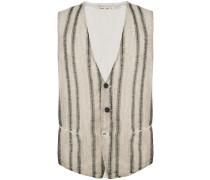 striped front waistcoat