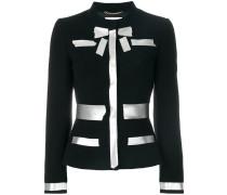 Taillierte Jacke mit Metallic-Print