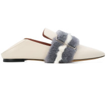 Hamelia mink fur trim loafers
