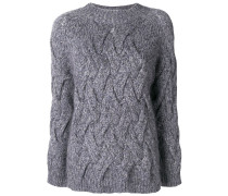 classic cable-knit jumper
