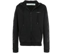 3D line zip hoodie