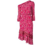 Einschultriges Kleid mit Print