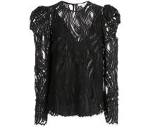 lace structured shoulder top