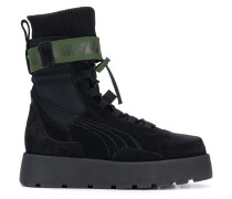 high ankle lace up Scuba boots