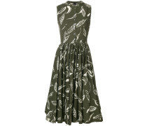 printed buttoned dress