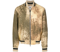 bleached effect bomber jacket