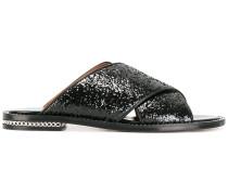 Sandalen mit Paillettenstickerei