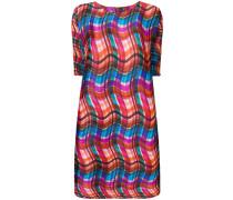 wavy check pleated dress