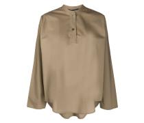Popeline-Hemd mit Stehkragen