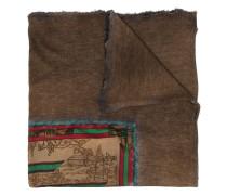Schal mit Zeichnungs-Print