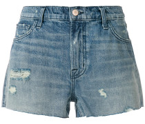 low rise denim shorts