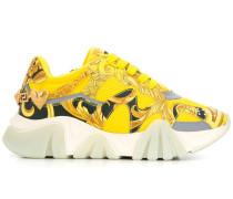 Plateau-Sneakers mit Print