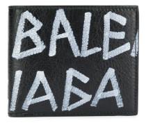 Portemonnaie mit Graffiti-Print