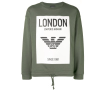 'London' Sweatshirt mit Kordelzug