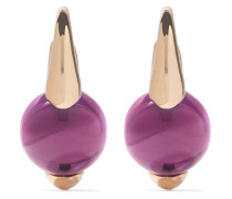 18kt  gold M'ama non m'ama amethyst earrings - Unavailable