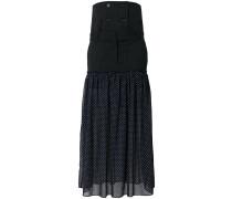 pinstripe and polka dot maxi skirt