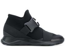 safety buckle hi-top sneakers