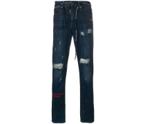 'Firetape' Jeans in Distressed-Optik