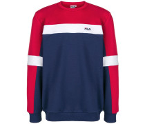 Schmales Sweatshirt in Colour-Block-Optik