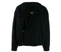 pinstriped wool jacket