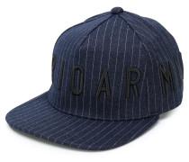 logo striped cap