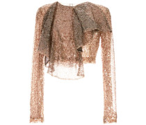cropped sequined top
