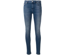 Skinny-Jeans mit Logo-Verzierung