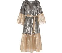 Boho-Kleid in Metallic-Optik