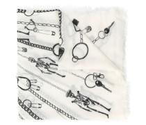 Schal mit Schlüsselanhänger-Print