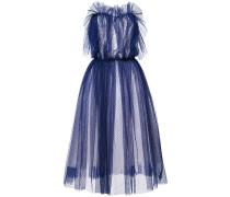 point d'esprit strapless maxi dress