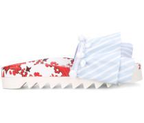 Flipflops mit Blumen-Print