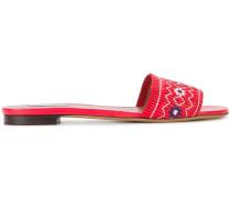 'Dizzy' Sandalen mit floraler Stickerei