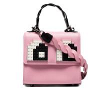 Pink Baby Alex Eyes Leather Cross Body Bag