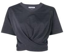 Drapiertes Cropped-T-Shirt