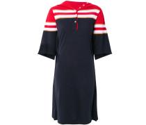 Poloshirt-Kleid mit Streifen