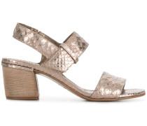 10119 snake embossed sandals