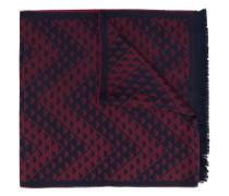 Ausgefranster Schal mit Logo-Muster