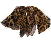 Krawattenbrosche mit Leoparden-Print