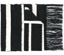 fringed stripe scarf