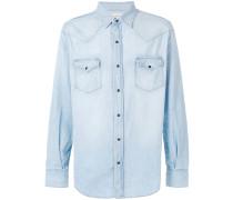 Jeans-Westernhemd mit Druckknöpfen