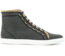 High-Top-Sneakers mit Zierkette