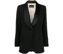 satin lapels tuxedo blazer