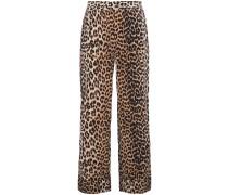 Seidenhose mit Leopardenmuster