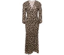 Wickelkleid mit Leopardenmuster