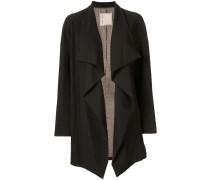 side ruffle striped blazer
